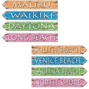 BEACH STREET SIGN CUTOUTS