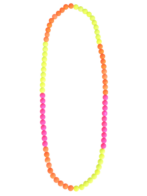 1980'S BEADED FLURO NECKLACE