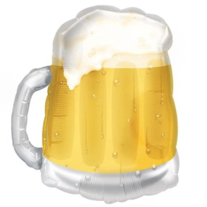 FOIL SUPER SHAPE BALLOON - BEER MUG