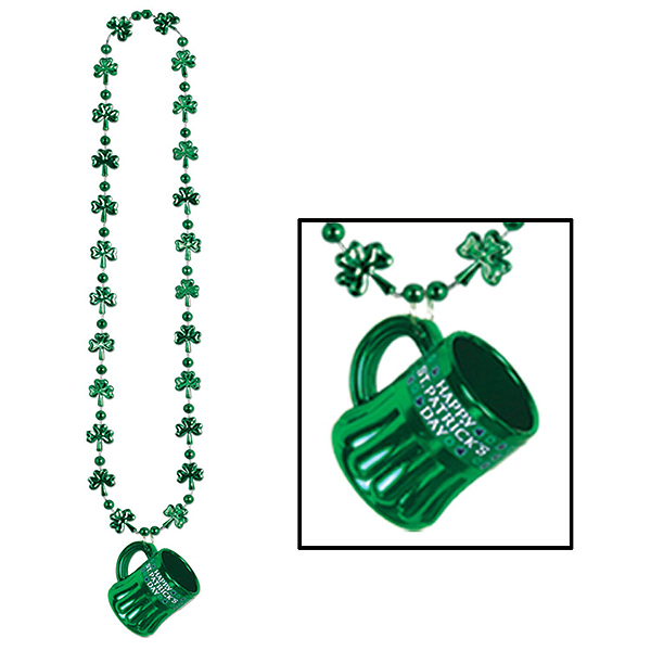 ST PATRICK'S MINI BEER MUG NECKLACE