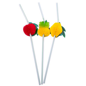 HONEYCOMB FRUIT BENDY STRAWS - BULK PACK OF 50