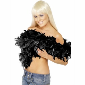 FEATHER BOA - DELUXE BLACK