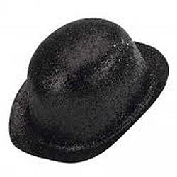 Image of Bowler Hat Black Glitter