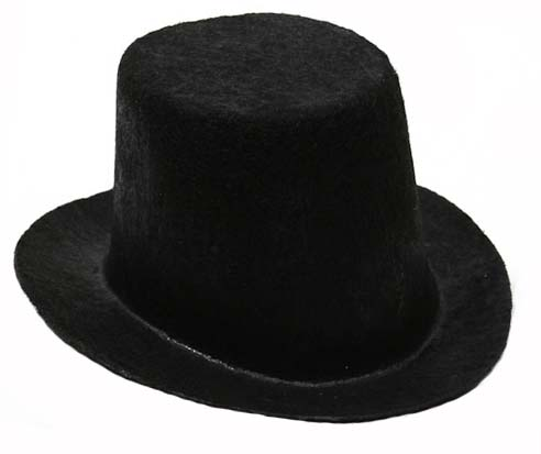TOP HAT BLACK FLOCKED