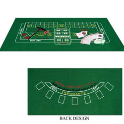 CASINO BLACK JACK & CRAPS FELT SET