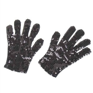 GLOVES - BLACK SEQUINED MICHAEL JACKSON STYLE