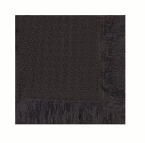 NAPKINS - BLACK LUNCH - PK 50