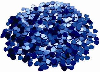TABLE SCATTERS BLUE HEARTS