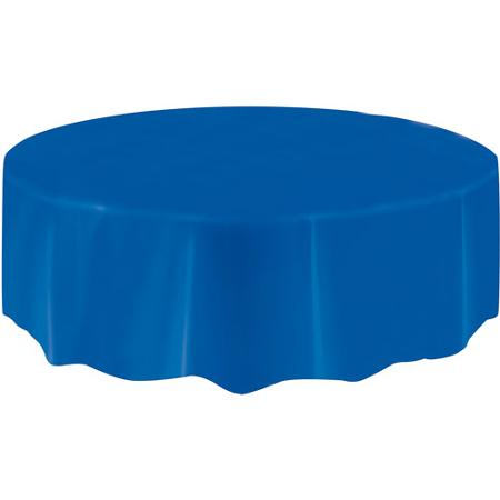 DISPOSABLE TABLECOVER - CIRCULAR BLUE