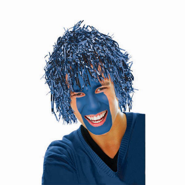 TINSEL WIG - BLUE