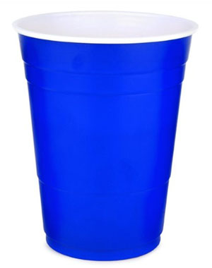 DISPOSABLE CUPS - WORLD FAMOUS DRINK CUPS BLUE - PACK OF 20