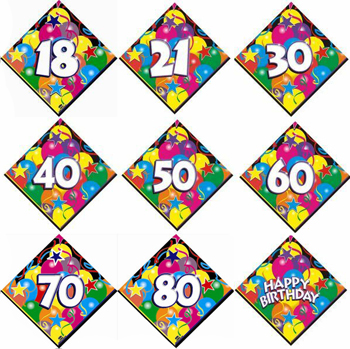SERVIETTES - LUNCHEON BIRTHDAY SPARKLING (18-80)