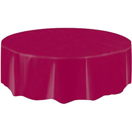 DISPOSABLE TABLECOVER - CIRCULAR MAROON/BURGUNDY