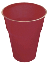 DISPOSABLE CUPS - BURGUNDY/MAROON PACK 25