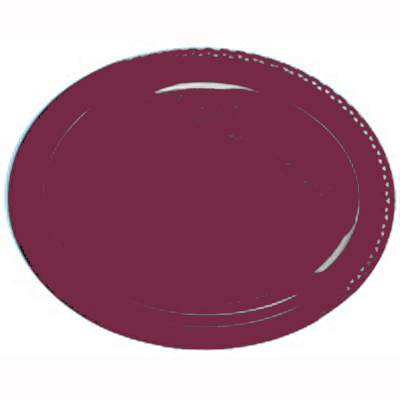 DISPOSABLE PLATES LARGE OVAL - BURGUNDY/MAROON PACK OF 25