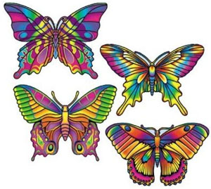 BUTTERFLY CUTOUTS - PACK 4