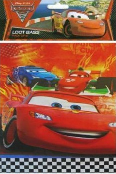 CARS - LOOT BAGS PACK OF 8