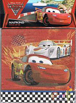 CARS 2 - NAPKINS PACK OF 16