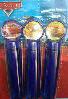 CARS 2 - BUBBLE TUBE PACK OF 3