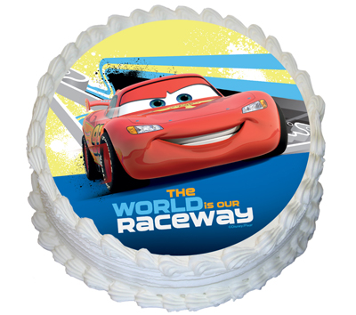 CARS - ROUND EDIBLE ICING IMAGE