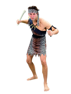 CAVEMAN FANCY DRESS COSTUME - MEDIUM