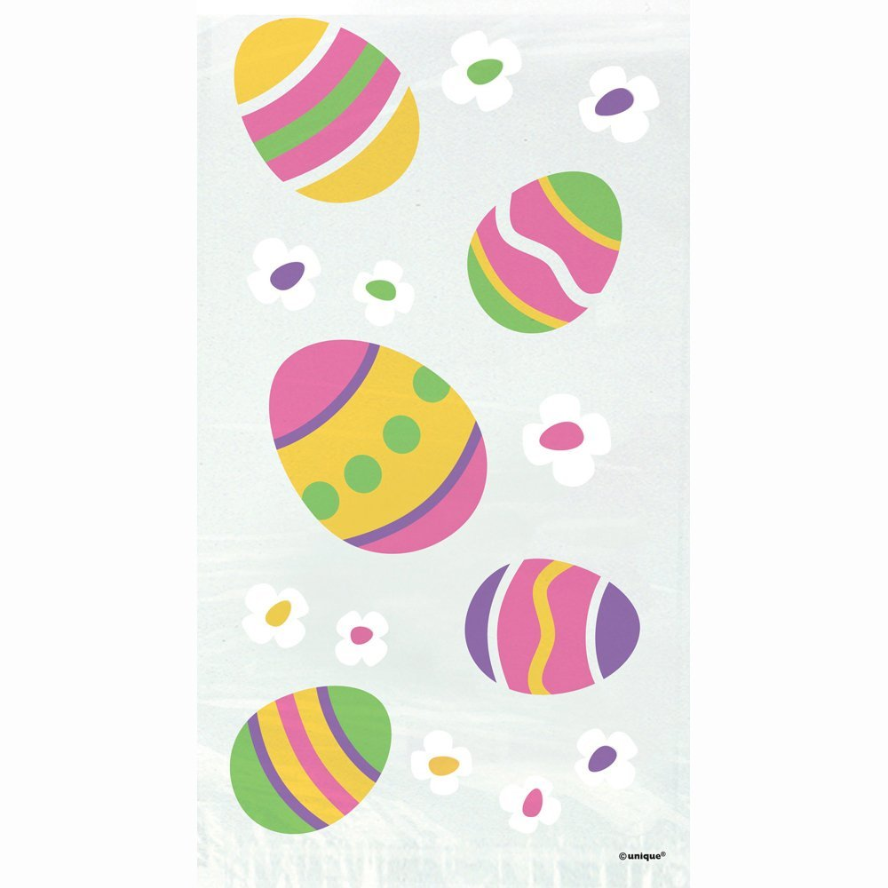 LOOT BAGS - EASTER EGG PRINTED CLEAR CELLO PACK 20