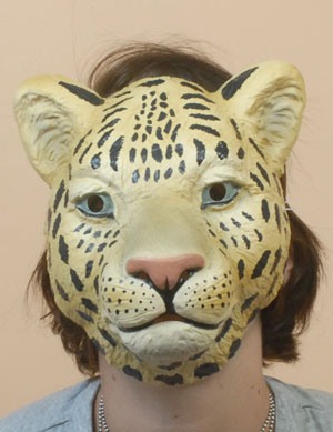 MASK - FULL FACE LEOPARD/CHEETAH PLASTIC