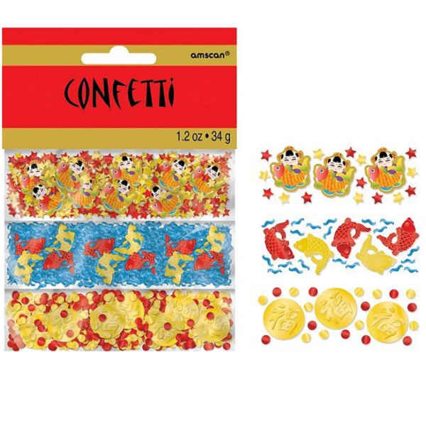 CHINESE NEW YEAR FOIL & PAPER CONFETTI VALUE PACK