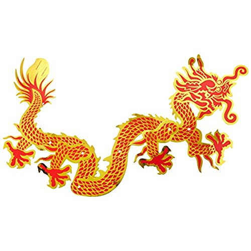 CHINESE ORIENTAL DRAGON JOINTED CUT OUT