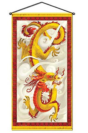 CHINESE DRAGON WALL PANEL