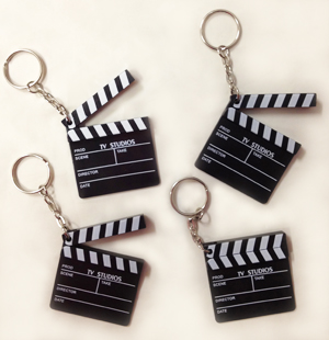 PARTY FAVOURS - HOLLYWOOD CLAPBOARD KEYRINGS