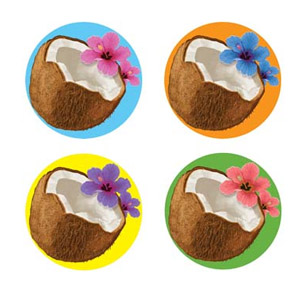 COCONUT DRINK COASTERS PACK OF 8