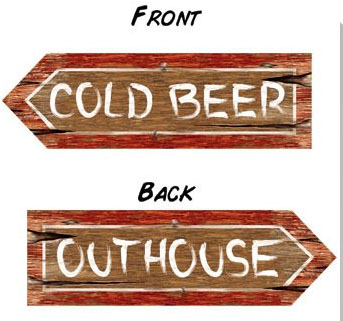 AUSTRALIAN COLD BEER/OUTHOUSE SIGN PACK OF 1