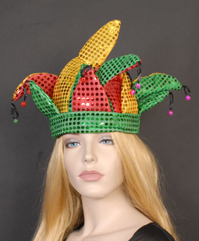 JESTER HAT - SEQUINNED WITH BELLS