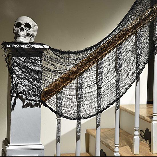 CREEPY THEME GAUZE CLOTH NETTING FABRIC
