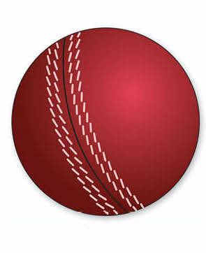 CRICKET BALL CUT OUT