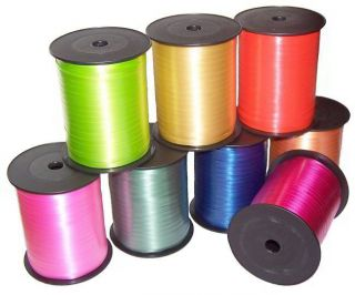 CURLING RIBBON ROLLS - RAYON IN A VARIETY OF COLOURS