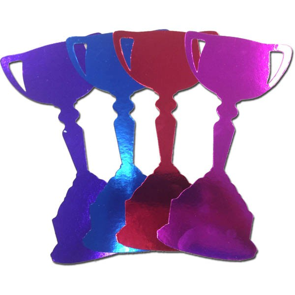 FOILBOARD MULTI COLOURED CUPS LARGE - PACK OF 12