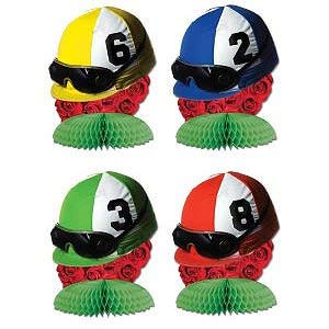 DERBY DAY PLAYMATE CENTREPIECES - PACK 4