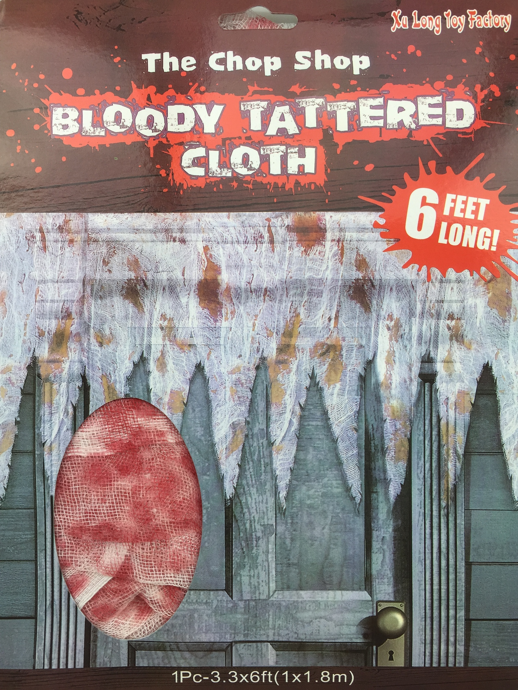 BLOODY STAINED TATTERED GAUZE CLOTH