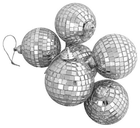 DISCO BALLS - MIRRORED 6CM PACKET OF 6