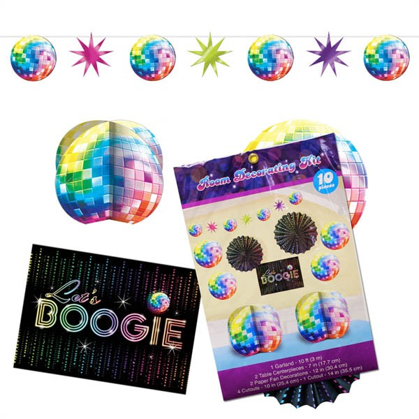 DISCO FEVER GIANT DECORATING KIT