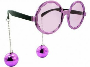 DISCO/ELTON JOHN GLASSES WITH BAUBLES 3 COLOURS AVAILABLE