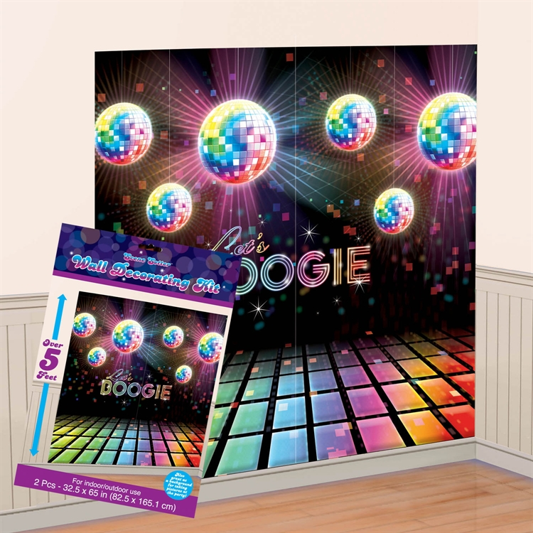 DISCO DANCERS LET'S BOOGIE GIANT WALL DECORATING KIT