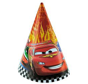 CARS 2 - PARTY HATS PACK OF 8
