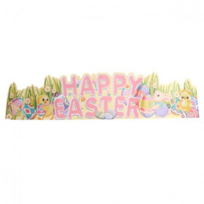 EASTER GLITTER BANNER WITH HONEYCOMB TISSUE EGG