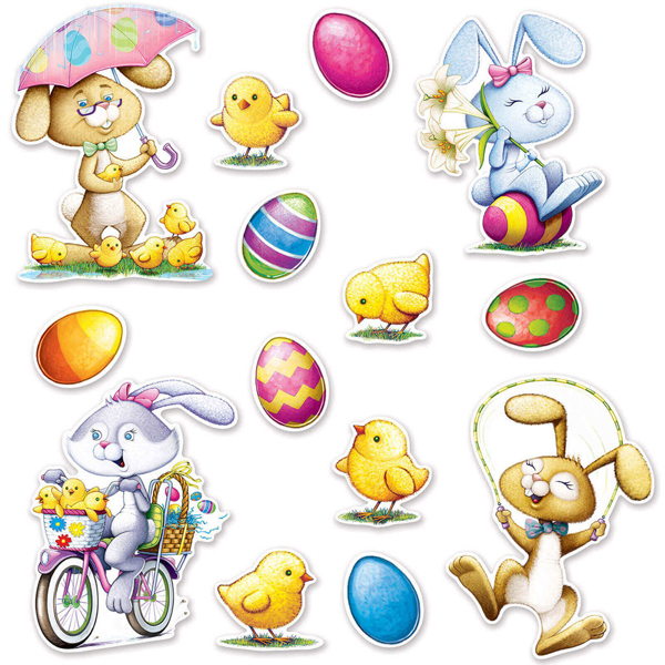 EASTER CUT OUTS - PACK 14