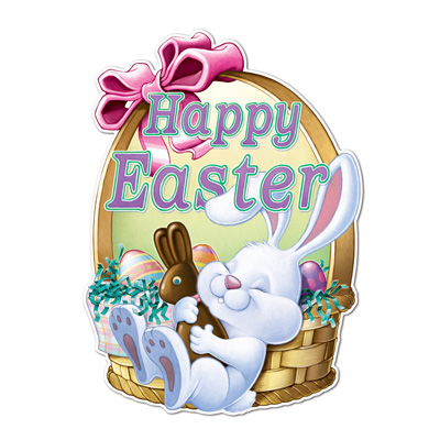 HAPPY EASTER CARDBOARD SIGN - LARGE