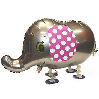 WALKING PET BALLOON - ELLE THE ELEPHANT 70CM