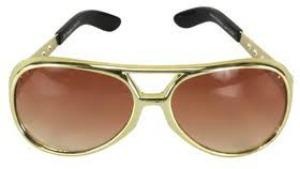 Image of Elvis Gold Glasses